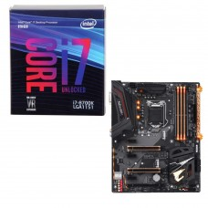 Intel Core i7-8700K, Gigabyte Z370 AORUS Ultra Gaming, CPU/Motherboard Bundle