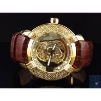 Mens New Aqua Master Jojo Joe Rodeo Techno Kc Jesus W#96 Yellow Diamond Watch