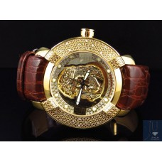 Mens New Aqua Master Jojo Joe Rodeo Techno Kc Jesus W#96 Yellow Diamond Watch