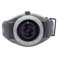 Custom New Mens Gucci Sync 46MM Pave Set Diamond Watch 3.5 Ct YA137101